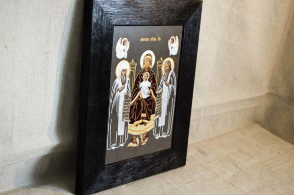 Икона Свенской (Печерской) Божией Матери № 2 из мрамора, камня, изображение, фото 3