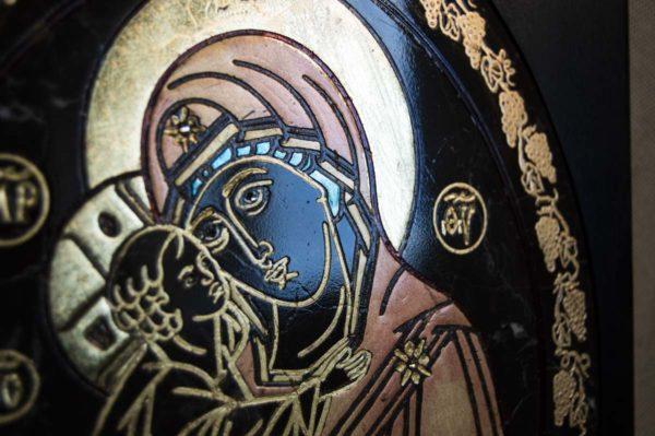 Икона Жировицкой (Жировичской) Божией Матери № 017 из мрамора, камня, изображение, фото 1