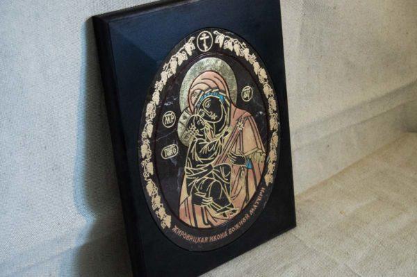 Икона Жировицкой (Жировичской) Божией Матери № 017 из мрамора, камня, изображение, фото 2
