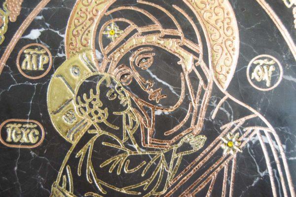 Икона Жировицкой (Жировичской) Божией Матери № 018 из мрамора, камня, изображение, фото 3