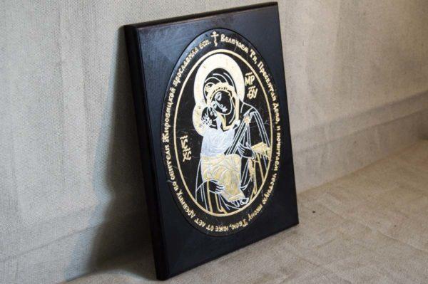 Икона Жировицкой (Жировичской) Божией Матери № 019 из мрамора, камня, изображение, фото 3