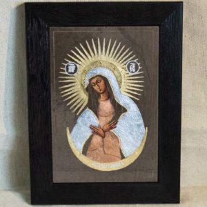 Икона Остробрамской Божией Матери № 04 из мрамора, камня, изображение, фото 3