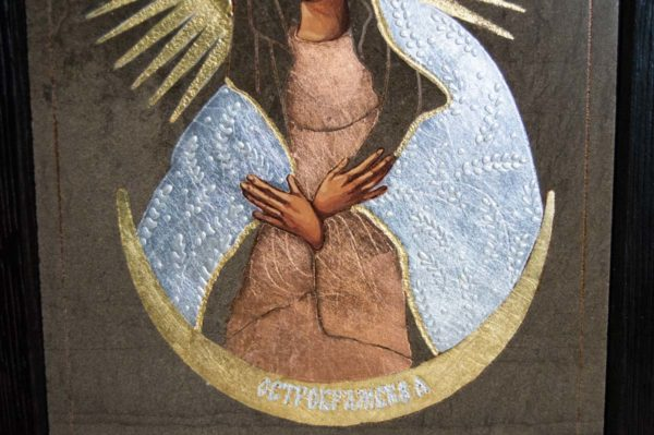 Икона Остробрамской Божией Матери № 04 из мрамора, камня, изображение, фото 1