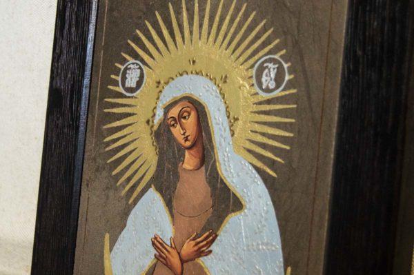 Икона Остробрамской Божией Матери № 04 из мрамора, камня, изображение, фото 2