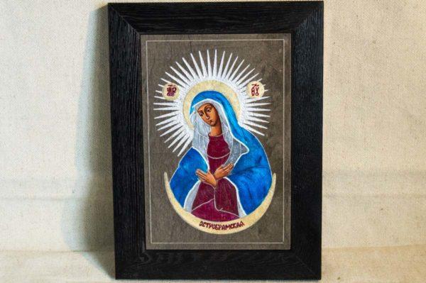Икона Остробрамской Божией Матери № 05 из мрамора, камня, изображение, фото 3
