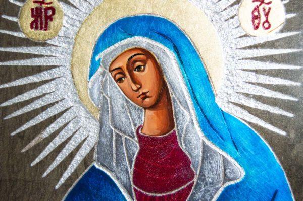 Икона Остробрамской Божией Матери № 05 из мрамора, камня, изображение, фото 2