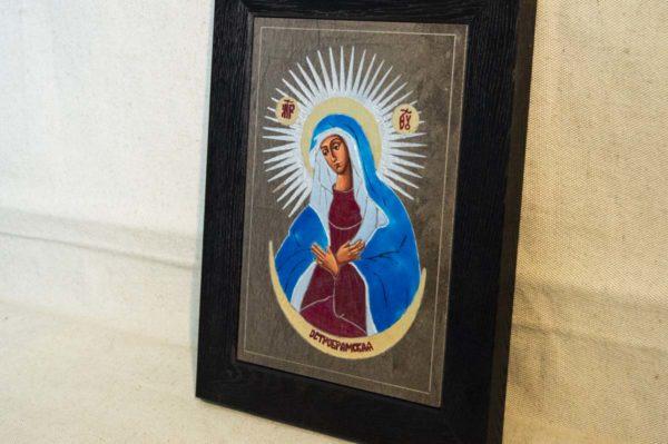 Икона Остробрамской Божией Матери № 05 из мрамора, камня, изображение, фото 1