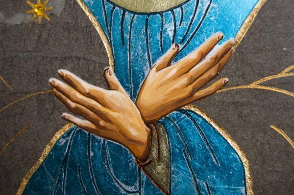 Икона Остробрамской Божией Матери № 07 из мрамора, камня, изображение, фото 5