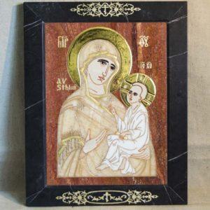Икона Стокгольмской Божией Матери № 1-12-2 из мрамора, камня, изображение, фото 7