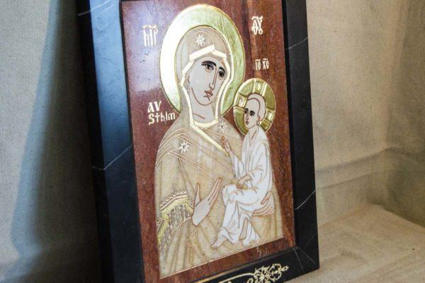 Икона Стокгольмской Божией Матери № 1-12-2 из мрамора, камня, изображение, фото 9