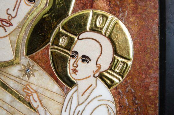 Икона Стокгольмской Божией Матери № 1-12-2 из мрамора, камня, изображение, фото 8