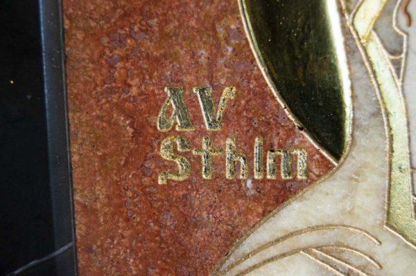 Икона Стокгольмской Божией Матери № 1-12-2 из мрамора, камня, изображение, фото 10