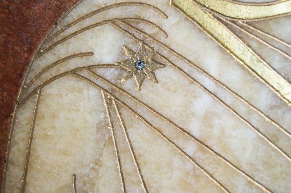 Икона Стокгольмской Божией Матери № 1-12-2 из мрамора, камня, изображение, фото 6