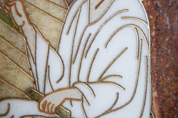 Икона Стокгольмской Божией Матери № 1-12-2 из мрамора, камня, изображение, фото 11