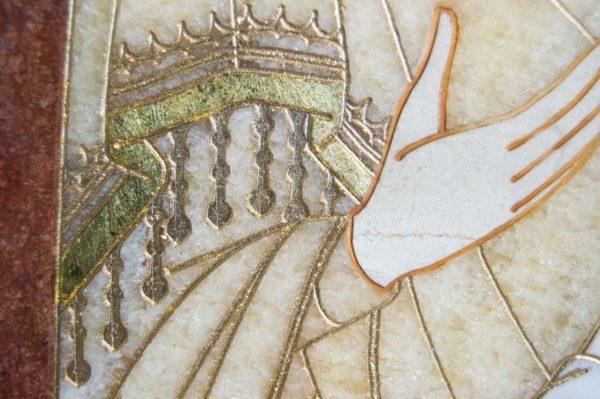 Икона Стокгольмской Божией Матери № 1-12-2 из мрамора, камня, изображение, фото 2