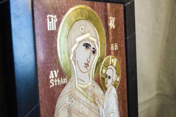 Икона Стокгольмской Божией Матери № 1-12-2 из мрамора, камня, изображение, фото 3