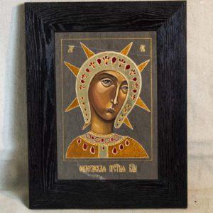 Икона Филермской Божией Матери № 2 из мрамора, камня, изображение, фото 1
