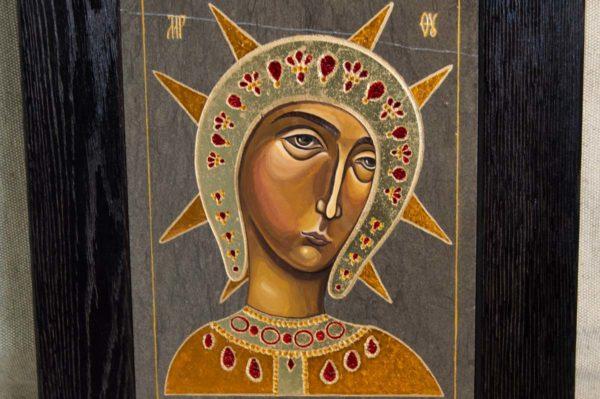 Икона Филермской Божией Матери № 2 из мрамора, камня, изображение, фото 3
