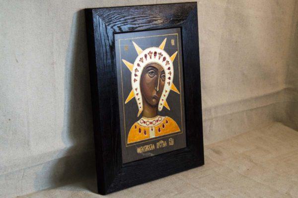 Икона Филермской Божией Матери № 2 из мрамора, камня, изображение, фото 4