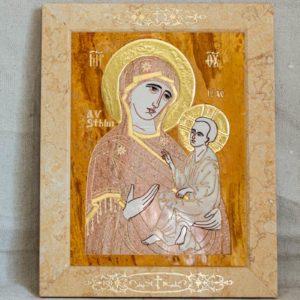 Икона Стокгольмской Божией Матери № 2-12-4 из мрамора, камня, изображение, фото 11