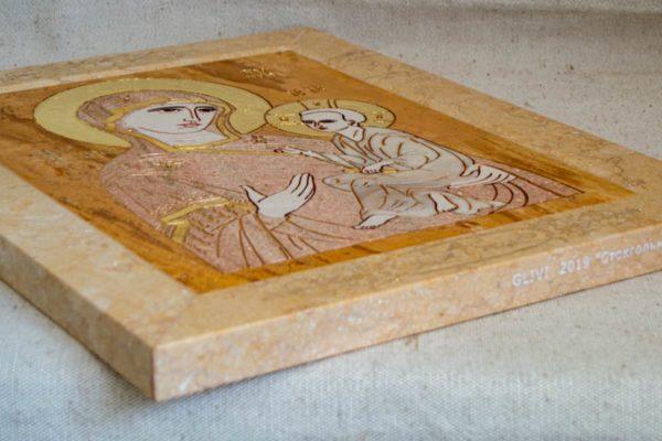 Икона Стокгольмской Божией Матери № 2-12-4 из мрамора, камня, изображение, фото 10