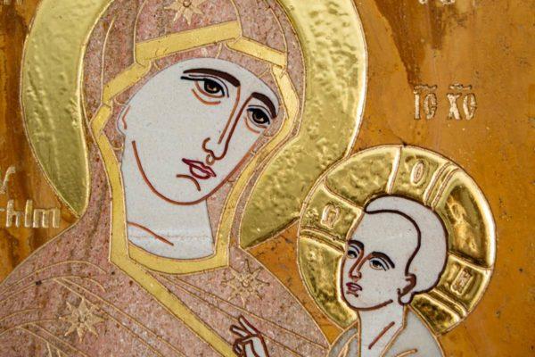 Икона Стокгольмской Божией Матери № 2-12-4 из мрамора, камня, изображение, фото 8
