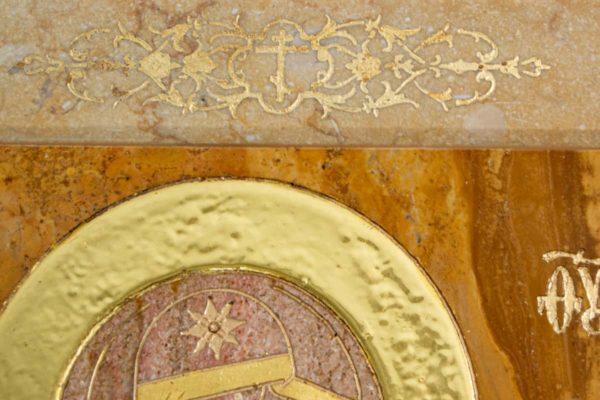 Икона Стокгольмской Божией Матери № 2-12-4 из мрамора, камня, изображение, фото 7