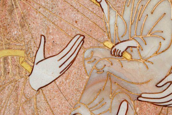 Икона Стокгольмской Божией Матери № 2-12-4 из мрамора, камня, изображение, фото 5