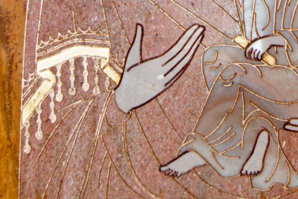 Икона Стокгольмской Божией Матери № 2-12-4 из мрамора, камня, изображение, фото 3