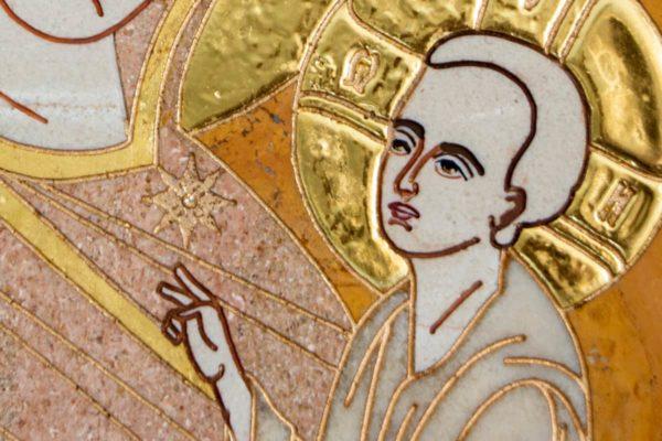 Икона Стокгольмской Божией Матери № 2-12-4 из мрамора, камня, изображение, фото 2
