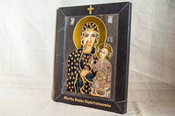 Икона Ченстоховской Божией Матери № 1-12,4 из мрамора, каталог икон, изображение, фото 2