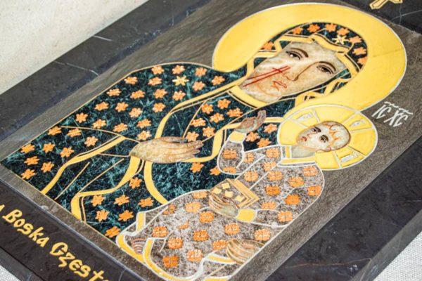 Икона Ченстоховской Божией Матери № 1-12,4 из мрамора, каталог икон, изображение, фото 3