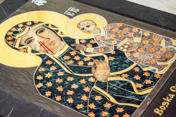 Икона Ченстоховской Божией Матери № 1-12,4 из мрамора, каталог икон, изображение, фото 4