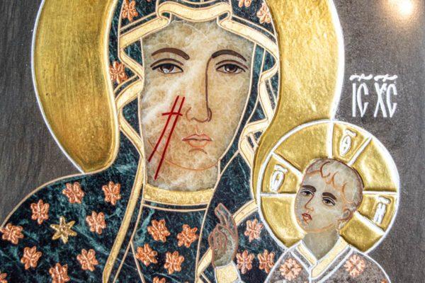 Икона Ченстоховской Божией Матери № 1-12,4 из мрамора, каталог икон, изображение, фото 7