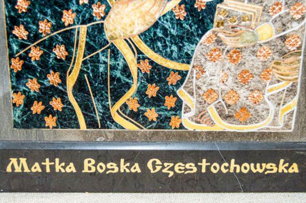 Икона Ченстоховской Божией Матери № 1-12,4 из мрамора, каталог икон, изображение, фото 10