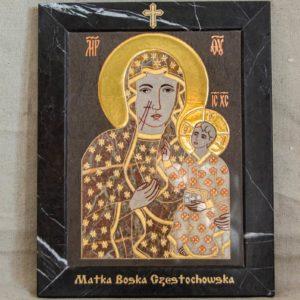 Икона Ченстоховской Божией Матери № 1-12,9 из мрамора, каталог икон, изображение, фото 3