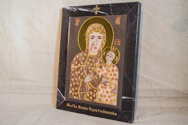 Икона Ченстоховской Божией Матери № 1-12,9 из мрамора, каталог икон, изображение, фото 4