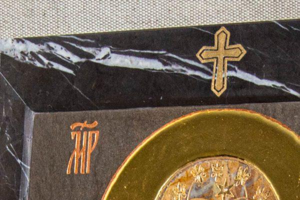 Икона Ченстоховской Божией Матери № 1-12,9 из мрамора, каталог икон, изображение, фото 7