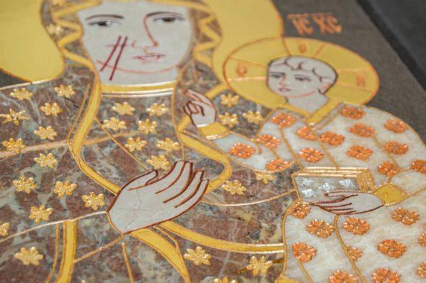 Икона Ченстоховской Божией Матери № 1-12,9 из мрамора, каталог икон, изображение, фото 8