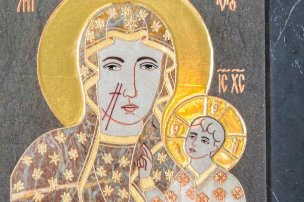 Икона Ченстоховской Божией Матери № 1-12,9 из мрамора, каталог икон, изображение, фото 9