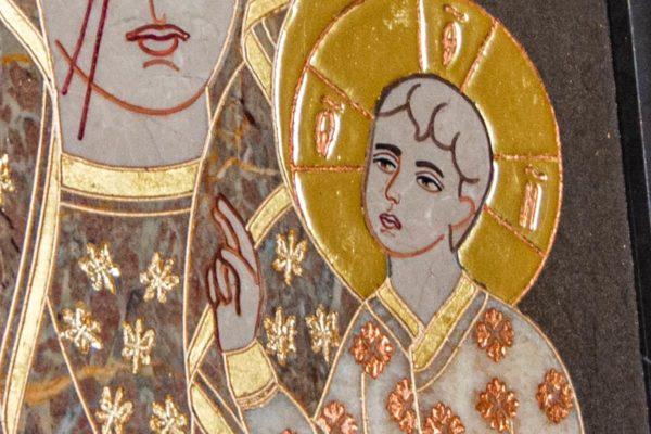Икона Ченстоховской Божией Матери № 1-12,9 из мрамора, каталог икон, изображение, фото 11