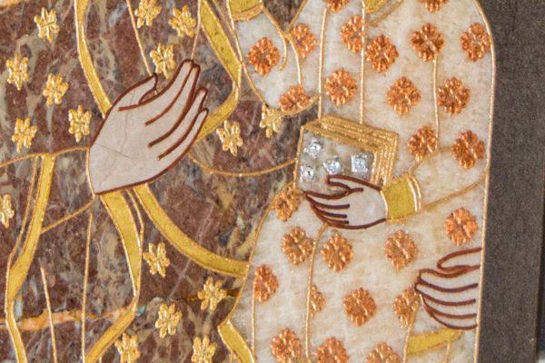 Икона Ченстоховской Божией Матери № 1-12,9 из мрамора, каталог икон, изображение, фото 12