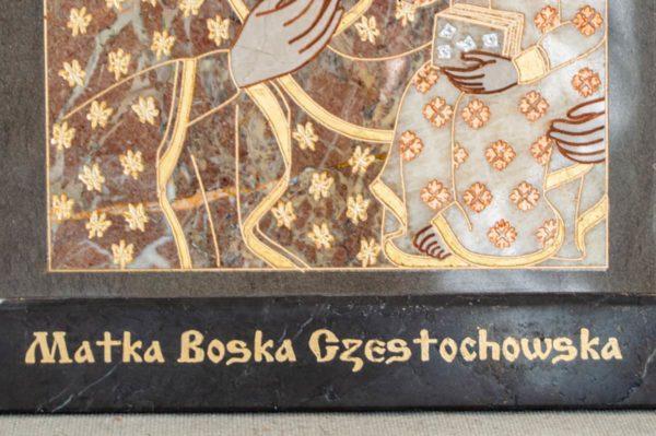 Икона Ченстоховской Божией Матери № 1-12,9 из мрамора, каталог икон, изображение, фото 13