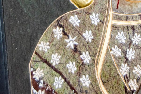 Икона Ченстоховской Божией Матери № 1-12,7 из мрамора, каталог икон, изображение, фото 4