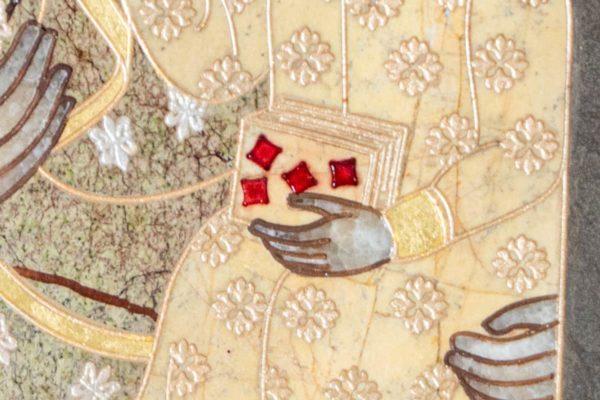 Икона Ченстоховской Божией Матери № 1-12,7 из мрамора, каталог икон, изображение, фото 5