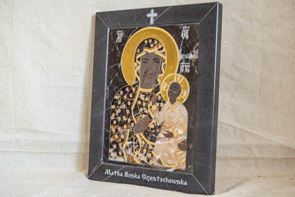 Икона Ченстоховской Божией Матери № 1-12,10 из мрамора, каталог икон, изображение, фото 2