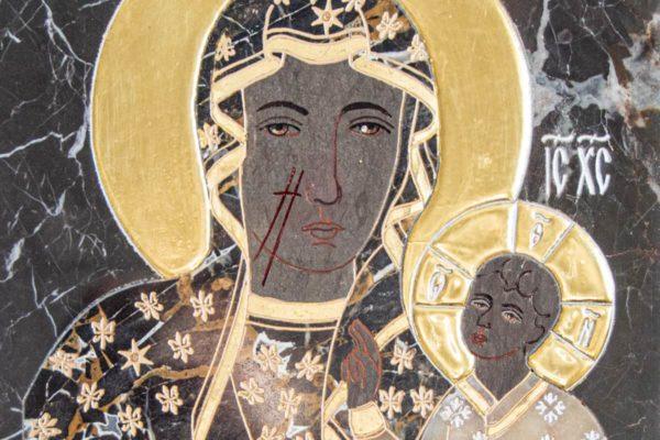 Икона Ченстоховской Божией Матери № 1-12,10 из мрамора, каталог икон, изображение, фото 5