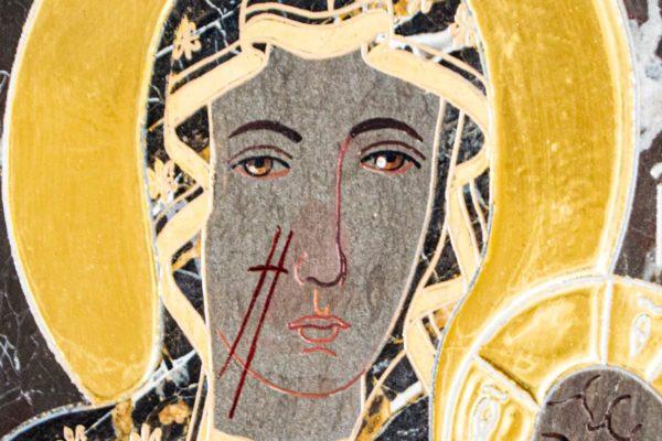 Икона Ченстоховской Божией Матери № 1-12,10 из мрамора, каталог икон, изображение, фото 6
