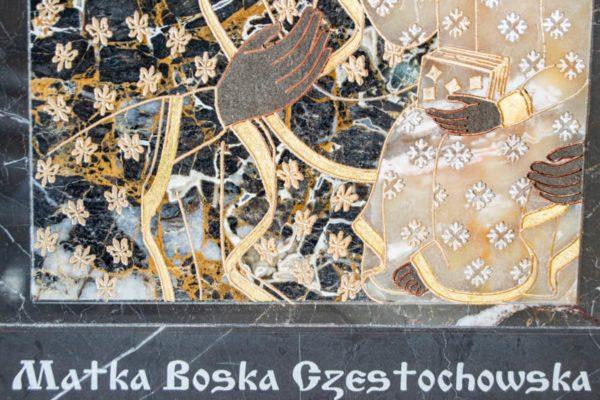 Икона Ченстоховской Божией Матери № 1-12,10 из мрамора, каталог икон, изображение, фото 11