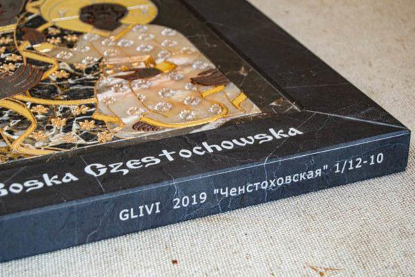Икона Ченстоховской Божией Матери № 1-12,10 из мрамора, каталог икон, изображение, фото 12